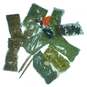 Hierbas para elaborar el aguardiente de hierbas